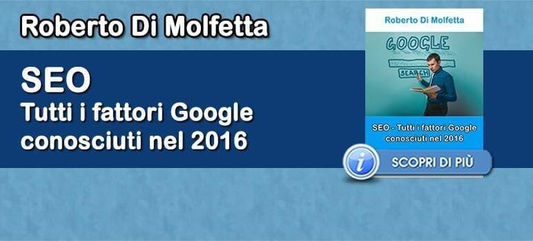 Roberto Di Molfetta - SEO - Tutti i Fattori Google