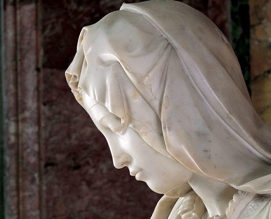 pietà vaticana - dettaglio maria