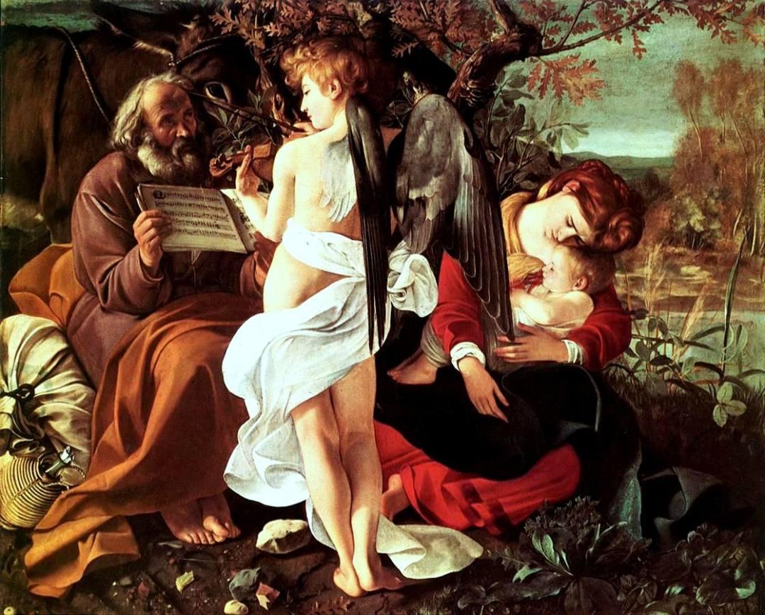 Capolavori dell'Arte – Riposo durante la fuga in Egitto del Caravaggio